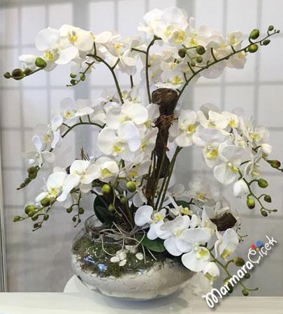 Orkide beyaz orkide yapay orkide yapay orkide siparii for Salon cicekleri yapay