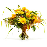 Altýn Renkte Çiçeklerden Buket