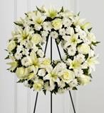 Beyaz Çiçeklerden Çelenk