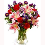 Vazoda Mevsim Çiçek Buketi