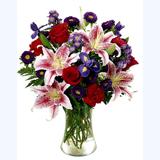 Renkli Mevsim Çiçeklerinden Buket