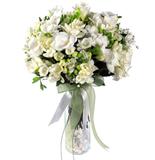 Beyaz Çiçek Aranjmaný