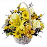 Sarý Çiçeklerden Sepette Arajman