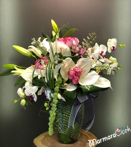 Orkide Lilyum Aranjman