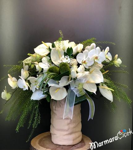 Orkideli Antoryum Aranjman