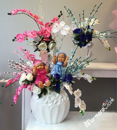 Ýkiz Bebek Yapay Çiçekler