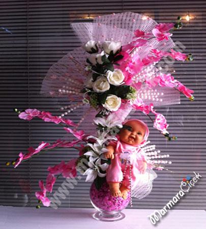 Bebekli Yapay Çiçek
