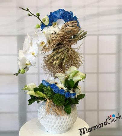 Mavi& Beyaz Aranjman
