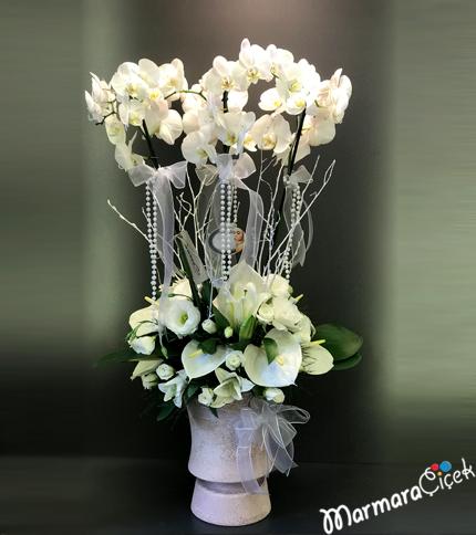 Beyaz Orkideli Aranjman