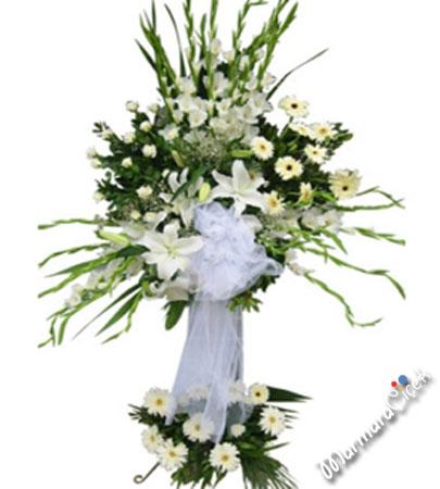 Ferforje Beyaz Çiçekler