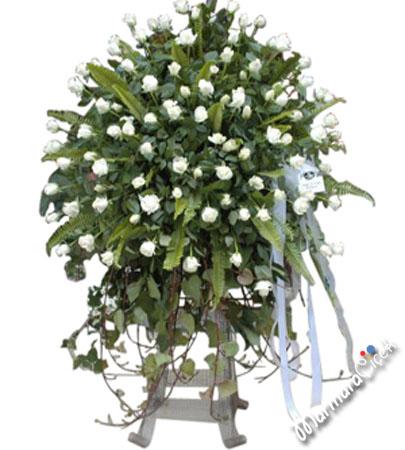 Ferforje Beyaz Güller