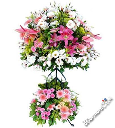 Ferforje  Renkli Çiçekler