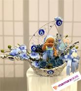 Yelkenli Bebek Çiçek Yapay