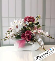 Elips Seramikte Çiçek Bahçesi