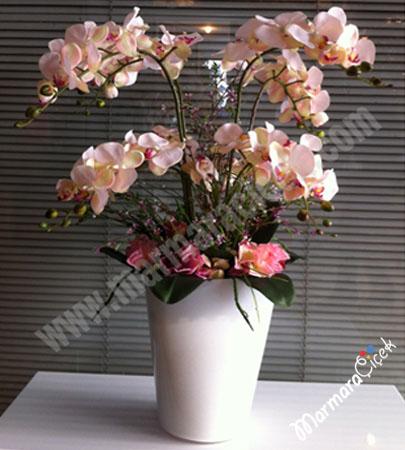 Yapay Çiçek Orkideli
